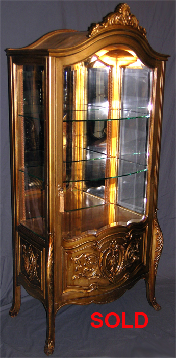 Antique Louis Xv Style Curio Cabinet