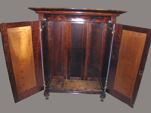 Circa 1840 american gothic mahogany armoire wardrobe for Armoire new york city