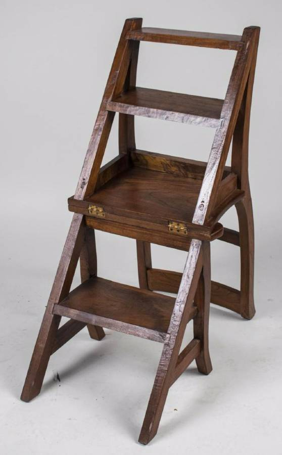 Antique Metamorphic Chair Library Steps