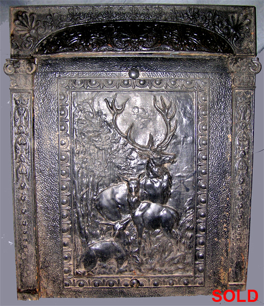 Cast Iron Fireplace Insert Summer Cover With Deer